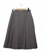 Loungedress(ラウンジドレス)の古着「ボックスプリーツスカート」 ベージュ