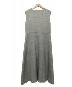 Demi-Luxe BEAMS(デミルクスビームス)の古着「スラブツイードフレアーワンピース」|グレー