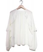 Lois CRAYON(ロイスクレヨン)の古着「ラッフルブラウス」|ホワイト