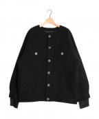 LEINWANDE(ラインヴァンド)の古着「Fluffy Wool Jacket」 ブラック