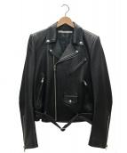 JOHN LAWRENCE SULLIVAN(ジョンローレンスサリバン)の古着「ラムスキンバイクズジャケット」|ブラック