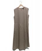 Demi-Luxe BEAMS(デミルクスビームス)の古着「リングストライプワンピース」|ベージュ