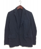 COMME des GARCONS HOMME(コムデギャルソンオム)の古着「ポリ縮絨ジャケット」|ネイビー