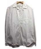 Frank&Eileen(フランクアンドアイリーン)の古着「スキッパーシャツ」|ホワイト