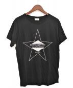 Saint Laurent Paris(サンローランパリ)の古着「PALLADIUM プリントTシャツ」|ブラック