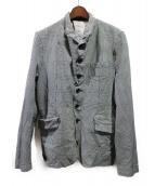 COMME des GARCONS HOMME(コムデギャルソンオム)の古着「グレンチェックジャケット」|グレー