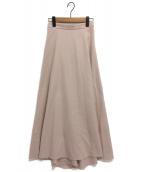 ATON(エイトン)の古着「Aラインマキシスカート」|ピンク