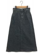 YANUK(ヤヌーク)の古着「デニムスカート」|ブラック