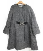 Rirandture(リランドチュール)の古着「裾フレアAラインコート」|ブラック