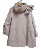 Rose Tiara(ローズティアラ)の古着「マルチウェイストール付Aラインコート」|ピンク
