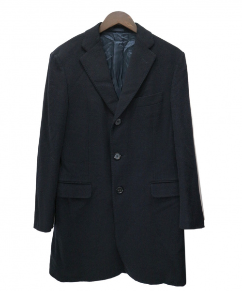 caruso(カルーゾ)caruso (カルーゾ) カシミヤチェスターコート ブラック サイズ:46の古着・服飾アイテム