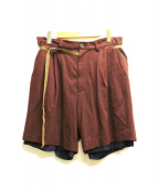 BED J.W. FORD(ベッドフォード)の古着「ショートパンツ」|ブラウン