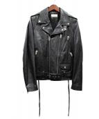 Saint Laurent Paris(サンローランパリ)の古着「L17/ライダースジャケット」|ブラック