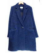 ISABEL MARANT ETOILE(イザベルマラン エトワール)の古着「モヘアチェスターコート」|ネイビー