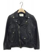 beautiful people(ビューティフルピープル)の古着「shrink leather riders jacket」|ブラック