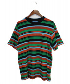 Supreme(シュプリーム)の古着「19SS Multi Stripe S/S Top」|オレンジ×グリーン