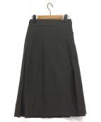 NIGEL CABOURN(ウールサージキルトラップスカート)の古着「ラップスカート」|グレー