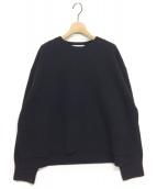 LE CIEL BLEU(ルシェルブルー)の古着「ウールカシミヤクルーネックニット」|ブラック