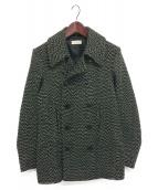 DRIES VAN NOTEN(ドリスバンノッテン)の古着「ツイードダブルコート」|ブラック