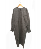 ELIN(エリン)の古着「Tweed 1B Dress」|ブラウン