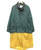 TOGA VIRILIS(トーガ ヴィリリース)の古着「レイヤードナイロンコート」 グリーン×イエロー