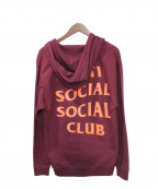 anti social social CLUB(アンチソーシャルソーシャルクラブ)の古着「ジップパーカー」 ボルドー