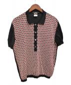 GUCCI(グッチ)の古着「ニットポロシャツ」|ブラック