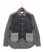 GANRYU(ガンリュウ)の古着「切替シャンブレーシャツ」|グレー