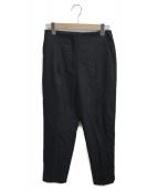Demi-Luxe BEAMS(デミルクスビームス)の古着「サキソニーハイウエストパンツ」|ブラック