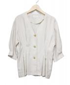 BEAUTY&YOUTH UNITED ARROWS(ビューティーアンドユース ユナイテッドアローズ)の古着「フロントボタンウエストタックシャツ」|アイボリー