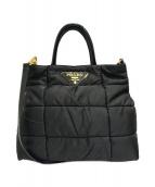PRADA(プラダ)の古着「キルティング2WAYバッグ」|ブラック