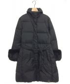 BLUGIRL BLUMARINE(ブルーガール ブルーマリン)の古着「袖ファーダウンコート」|ブラック