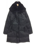 BLUGIRL BLUMARINE(ブルーガール ブルーマリン)の古着「ファーフードダウンコート」|ブラック