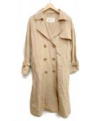 RAY BEAMS(レイビームス)の古着「ビスコースリネンロングトレンチコート」|ベージュ