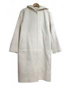 BEAUTY&YOUTH UNITED ARROWS(ビューティーアンドユース ユナイテッドアローズ)の古着「ドロップショルダーフードコート」|ホワイト