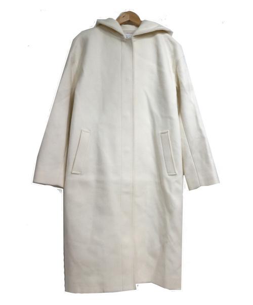 BEAUTY&YOUTH UNITED ARROWS(ビューティーアンドユース ユナイテッドアローズ)BEAUTY&YOUTH UNITED ARROWS (ビューティーアンドユース ユナイテッドアローズ) ドロップショルダーフードコート ホワイト サイズ:SIZE S 参考定価¥34.000の古着・服飾アイテム