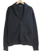 POLO RALPH LAUREN(ポロラルフローレン)の古着「ショールカラーカーディガン」|グレー