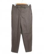 CLANE HOMME(クラネ オム)の古着「ウールスラックス」|ブラウン