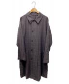 STEVEN ALAN(スティーヴンアラン)の古着「ステンカラーコート」 ブラウン