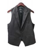 EMPORIO ARMANI(エンポリオアルマーニ)の古着「ジレ」|チャコールグレー