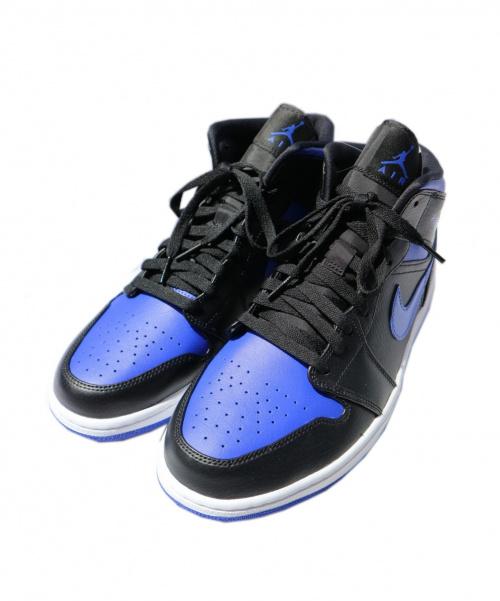 NIKE(ナイキ)NIKE (ナイキ) スニーカー ブルー×ブラック サイズ:29 未使用品 AIR JORDAN 1 MID ROYAL 554724-068の古着・服飾アイテム