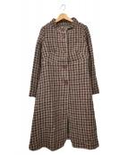 Jocomomola(ホコモモラ)の古着「ミックスツイードコート」