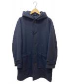 MHL(エムエイチエル)の古着「ウールフーデッドコート」|ネイビー