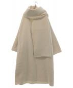 mikomori(ミコモリ)の古着「リバーシャルムビーバーコート」 オフホワイト