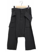 RICK OWENS(リックオウエンス)の古着「サルエルパンツ」 ブラック
