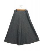 ROBE DE CHAMBRE COMME DES GARCONS(ローブドシャンブルコムデギャルソン)の古着「デニムスカート」|グレー