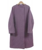 LUCA/LADY LUCK LUCA(ルカレディラックルカ)の古着「モッサノーカラーコート」|パープル