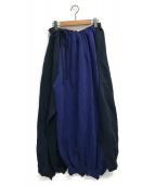 VETEMENTS(ヴェトモン)の古着「スウェトパンツスカート」 ネイビー