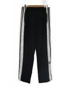adidas(アディダス)の古着「アディブレイクトラックパンツ」|ブラック×ホワイト