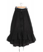 IRENE(アイレネ)の古着「リンクルコットンペティコートスカート」|ブラック